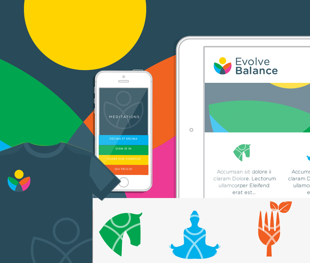 Evolve Balance Therapy Brand design by Bdi Works Brighton